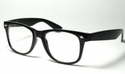 Wayfarer Clear Lens Medium Black