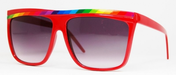 Oversized Rainbows Red