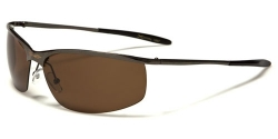 Metal Pilot Polarized Spot Brown